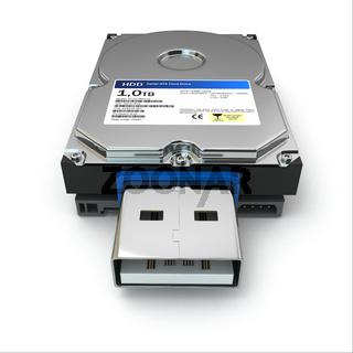 Usb file back up external hard drive.