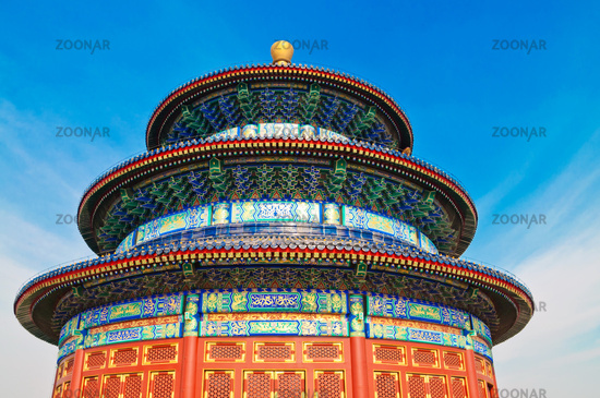 Temple of Heaven in Beijin on blue sky background