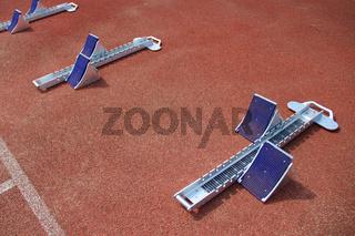 Startblöcke für die Leichtathletik