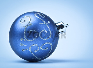 blue decoration ball