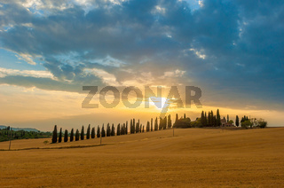 Sunset over Tuscany