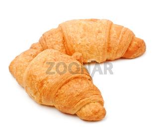 two fresh croissant