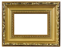 Elegant  Gold Picture Frame macro