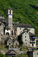centre of the listed village of Corippo,Ticino