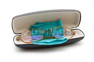 Brille in Etui