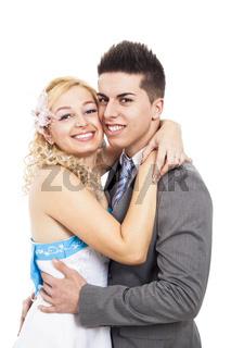 Young wedding couple portrait