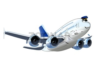 Cartoon Airliner