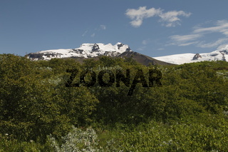 Mountains near Skaftafell. Vatnajökull National Park (the largest national park in Europe)
