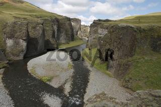 Fjaðrárgljúfur - an impressive gorge near to Kirkjubæjarklaustur village. Skaftárhreppur municipality