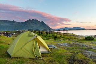 Tent in Lofoten