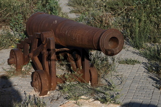 A cannon in the Portuguese Fortified City of Mazagan. El-Jadida