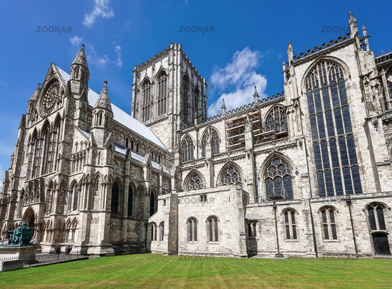 Magnificent details cathedral in York UK
