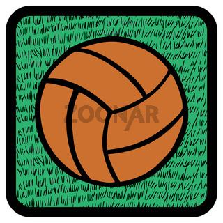 Soccer ball over grass