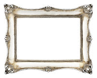 Baroque picture frame isolated on white