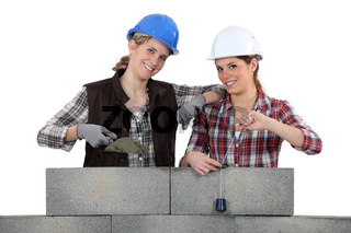 Two female masons
