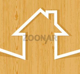 Wooden house concept
