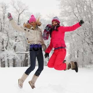 winter girl jump winter girl jump