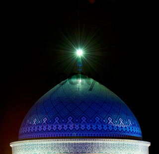 Dome of mosque in the night, Yazd, Iran