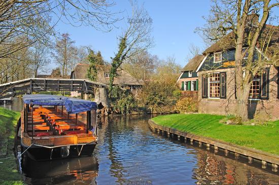 Village of Giethoorn,Ijsselmeer,Netherland