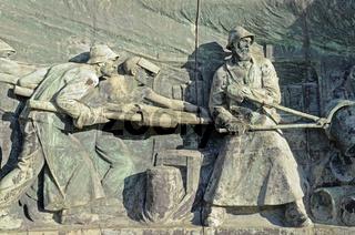Cast iron monument