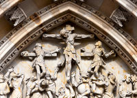 crucifixion group St. Vitus Cathedral Prague