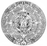 Maya calendar system written with Hieroglyphics,
