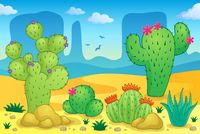 Desert theme image 2 - picture illustration.