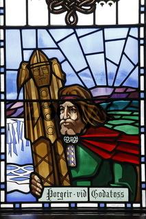 Window of Akureyrarkirkja (The Church of Akureyri). Akureyri