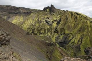 Landscape around the Þakgil (Thakgil) camping site