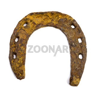 old rusty horseshoe. Isolated image