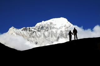 Couple in mountain