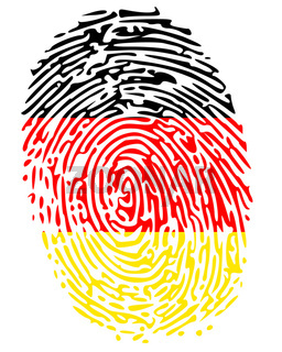 Thumbprint  Flag Colors of Germany