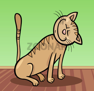 happy cat cartoon illustration