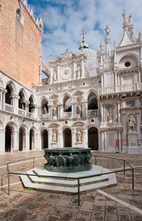 Inner court of Doge's Palace, Venice, Italy