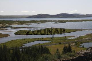 Þingvallavatn (Thingvallavatn) lake. Þingvellir (Thingvellir)