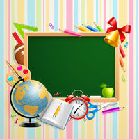 Back to school background with place