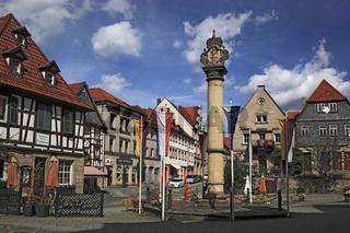 Marktplatz von Kronach, Oberfranken, Bayern, Deutschland