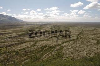 Skeiðarársandur the largest sandur (outwash plain) on Earth. Skaftafell