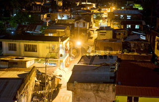 Slums at night