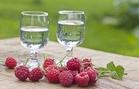 Raspberry vodka