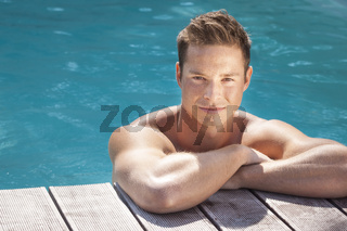 man in the pool