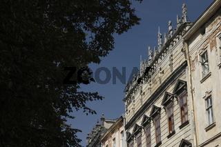 Korniakt Palace (Kamienica Królewska / Пала́ц Корня́кта) on the Market Square in the Old Town of Lviv (Lwów)