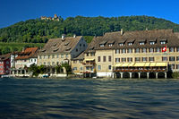 town of Stein am Rhein at the Rhine River