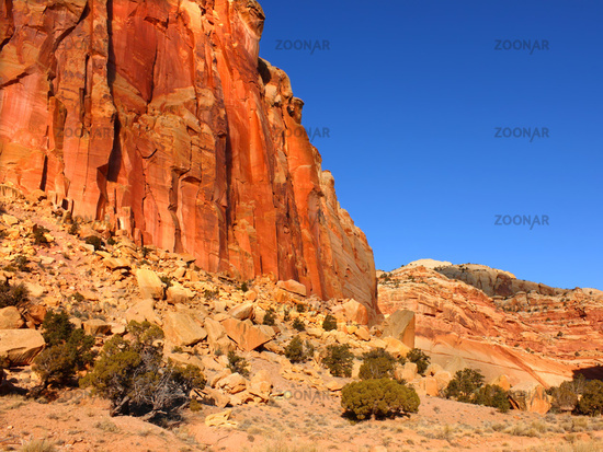 Capitol Reef Rock Formations