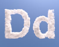 Letter D cloud shape