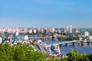 Kiev cityscape and Dnieper river