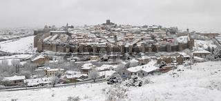 avila wall in winter