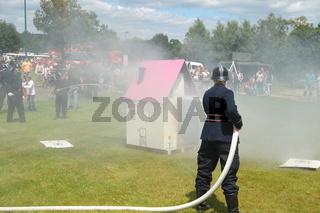 Historischer Feuerwehrmann
