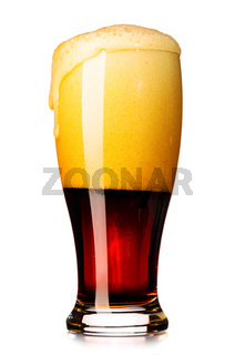 fresh dark beer