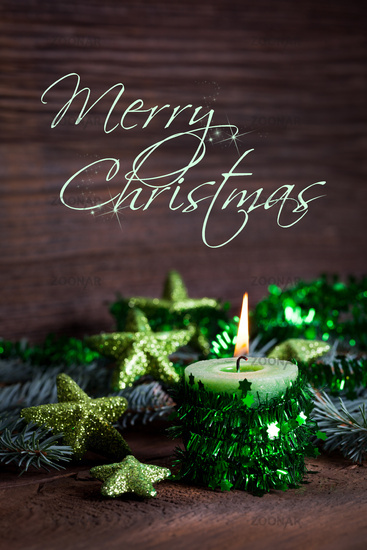 christmas card with text